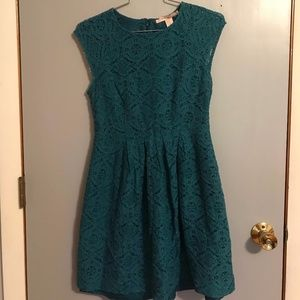 Emerald Lace Dress by Forever 21